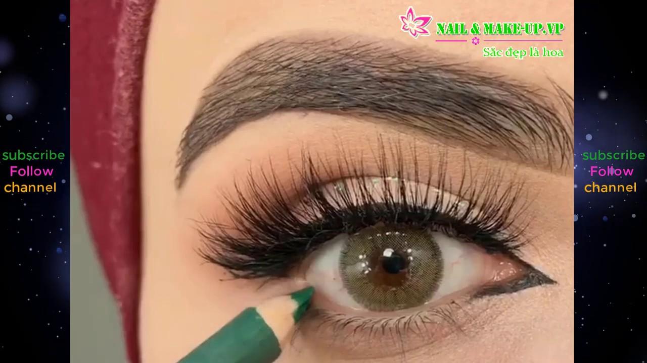 Hướng Dẫn Cách Vẽ Mắt To Tròn | How To Apply Liquid Eyeliner for Beginners