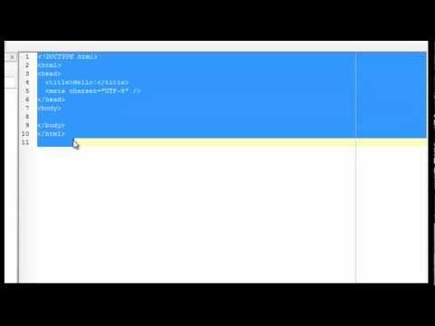 الدرس الأول: البداية مع HTML5