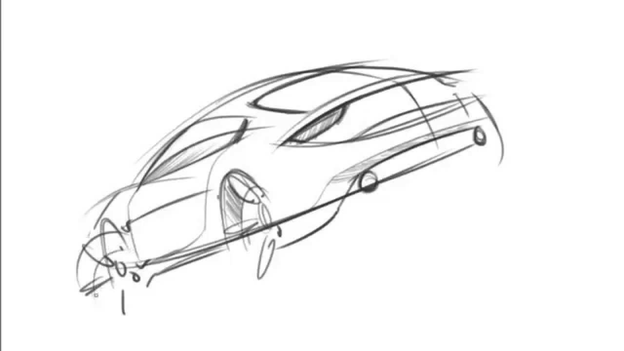 Quick Car Sketching - Rear View - YouTube