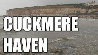 Cuckmere Haven in East Sussex - English shore fishing mark, South Coast, England, Britain, UK