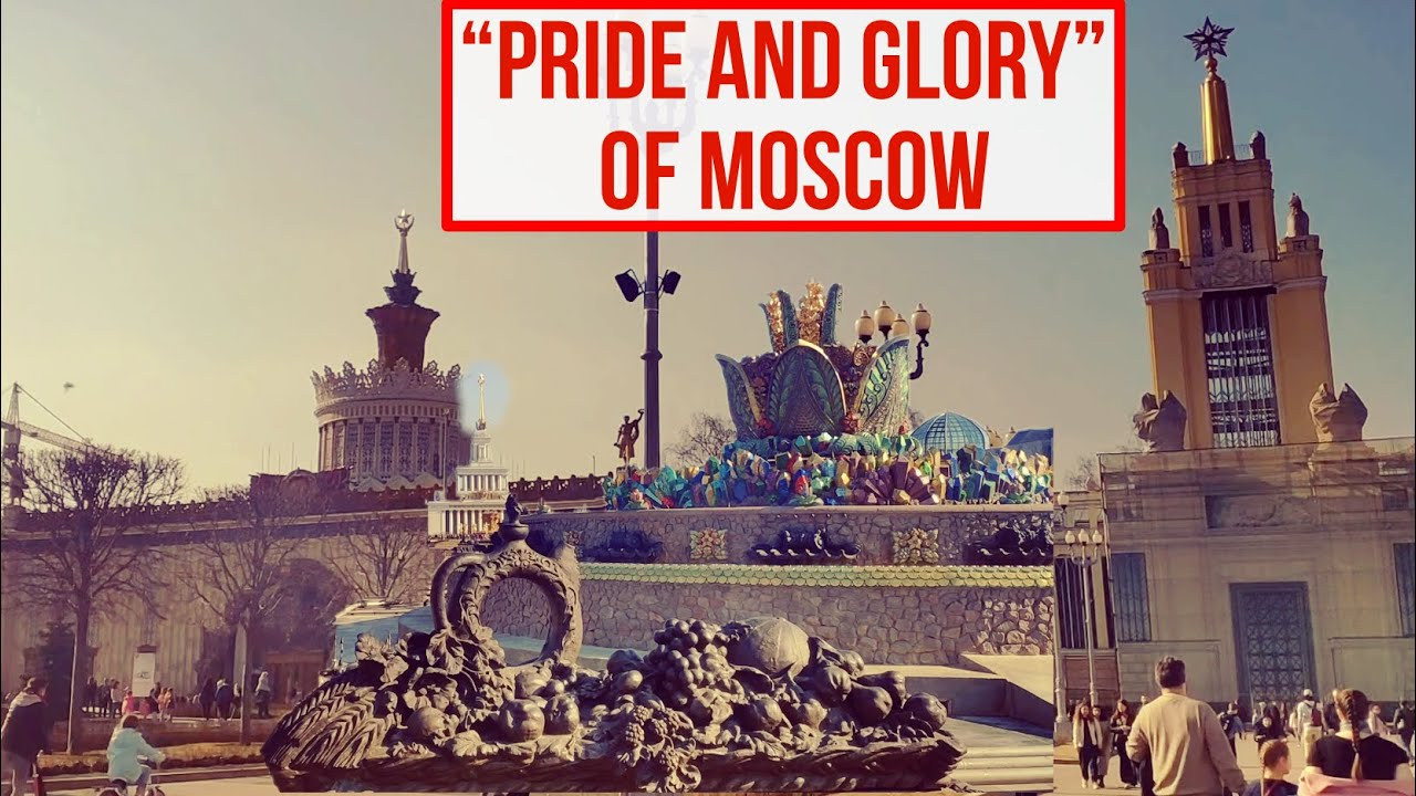 10 Minutes of Walking in Moscow As a Man - VDNKh  Legendary All-Russian Exhibition Center