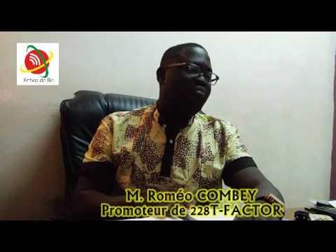 Echos de Bè: M. Roméo COMBEY le promoteur de 228 T-FACTOR très  mécontent du gouvernement