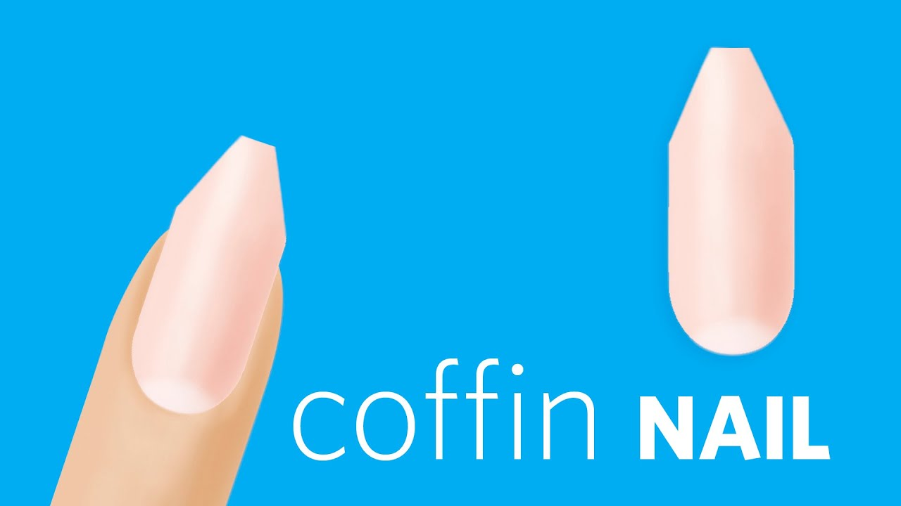 how to file coffin or ballerina nails youtube