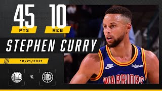 Steph Curry drops 45 PTS & 10 REB on the Clippers ‼️
