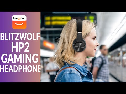 BlitzWolf BW HP2 Wireless Gaming Headphone | Bluetooth V5 0 | 1000mAh Touch Control | Banggood