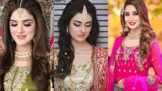 30 + Most Trendy Engagement look Ideas||Engagement Makeup Hairstyles And Jewelry Ideas
