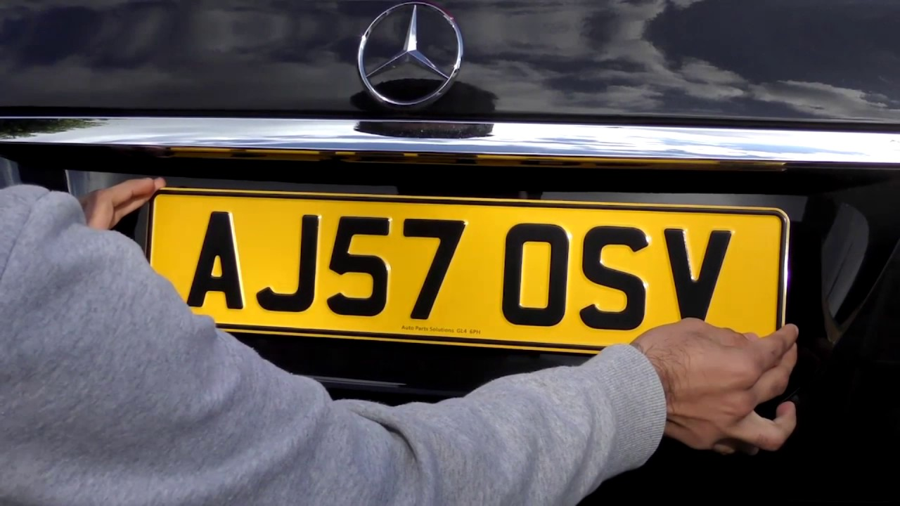 Pressed Metal Number Plates Review 3D embossed UK Car Registration ...
