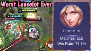 Worst Lancelot Ever😂 Build & Emblem Set | Mobile Legends: Bang Bang