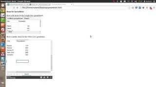 How to Embed Excel Spreadsheet on HTML Page