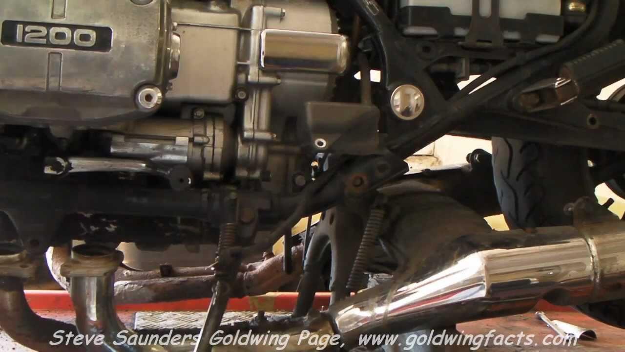 Honda GL1200 Goldwing Engine Removal  YouTube