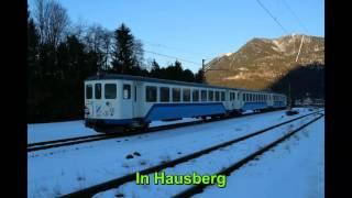 Züge bei der bayerischen  Zugspitzbahn