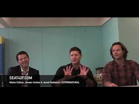 Misha Collins, Jensen Ackles & Jared Padalecki SUPERNATURAL Set Visit Interview