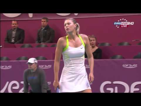 Maria Sharapova WTA HD 10 02 12 Sweaty