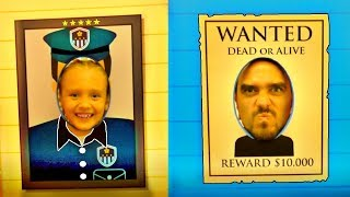 Nastya becomes a policeman in the game center for children |  POLICE BABY Playing with TOYS