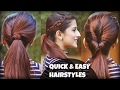 1 Min Everyday EFFORTLESS Hairstyles With Ponytails For School, College, Work, | Indian Hair styles
