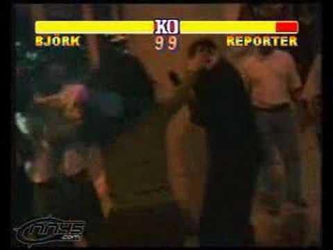 Bjork vs reporter