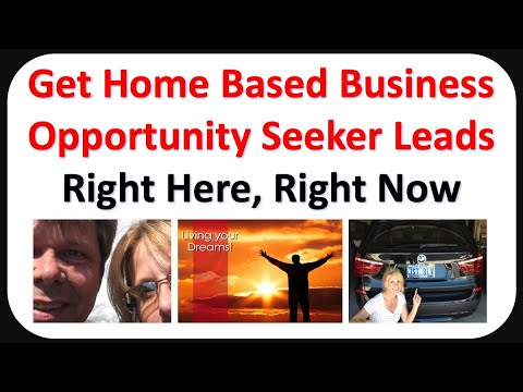 Home Based Business Opportunity Seekers – Get Biz Opp Leads TODAY