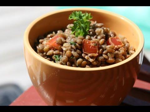 cold lentil salad recipe recette salade froide de