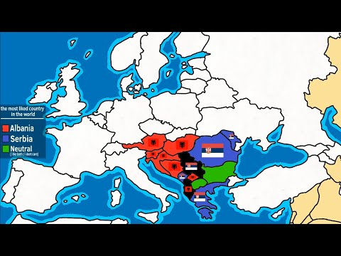 Albania or Serbia ? the most liked country in the world (new map)