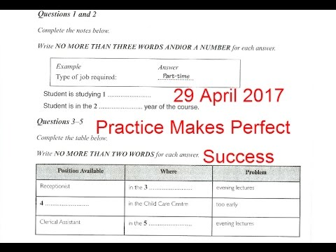 ielts listening practice test 2017 with answers 29 april 2017 youtube. Black Bedroom Furniture Sets. Home Design Ideas