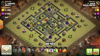 Learn How to 3 Star this Popular Th9 War Base using GoValk Attack Strategy | Clash of Clans