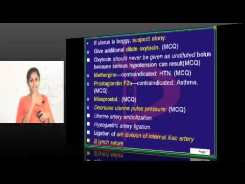 NEETPG Coaching Gyn Obs Topic 07 PPH by Dr.Shilpa