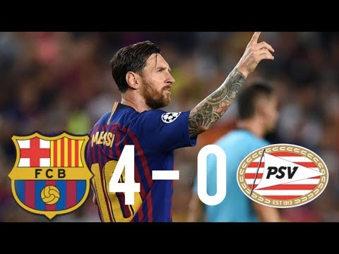 Barcelona vs PSV [4-0], Champions League, Group Stage 2018 - MATCH REVIEW
