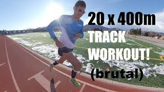 20x400mTrack Economy Workout| Sage Canaday TRAINING FOR A 2:18 MARATHON