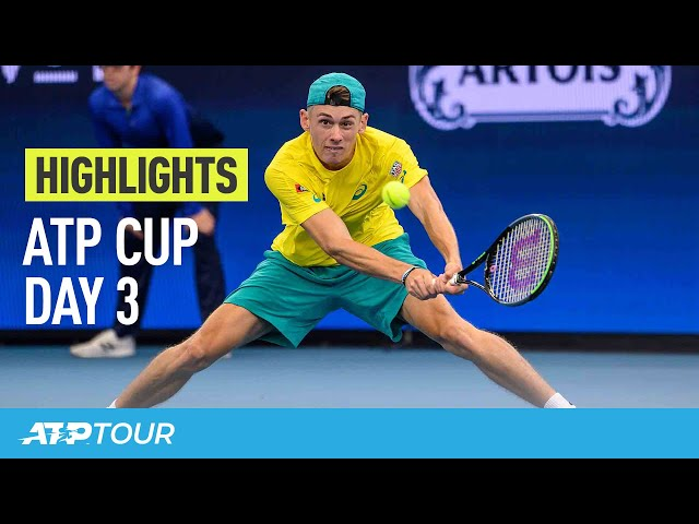 Australia Flies The Flag | Day 3 Highlights | ATP CUP