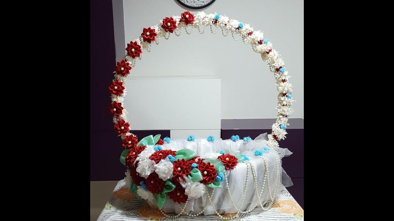 56. Basket making - Ganpati decoration part-2 - YouTube