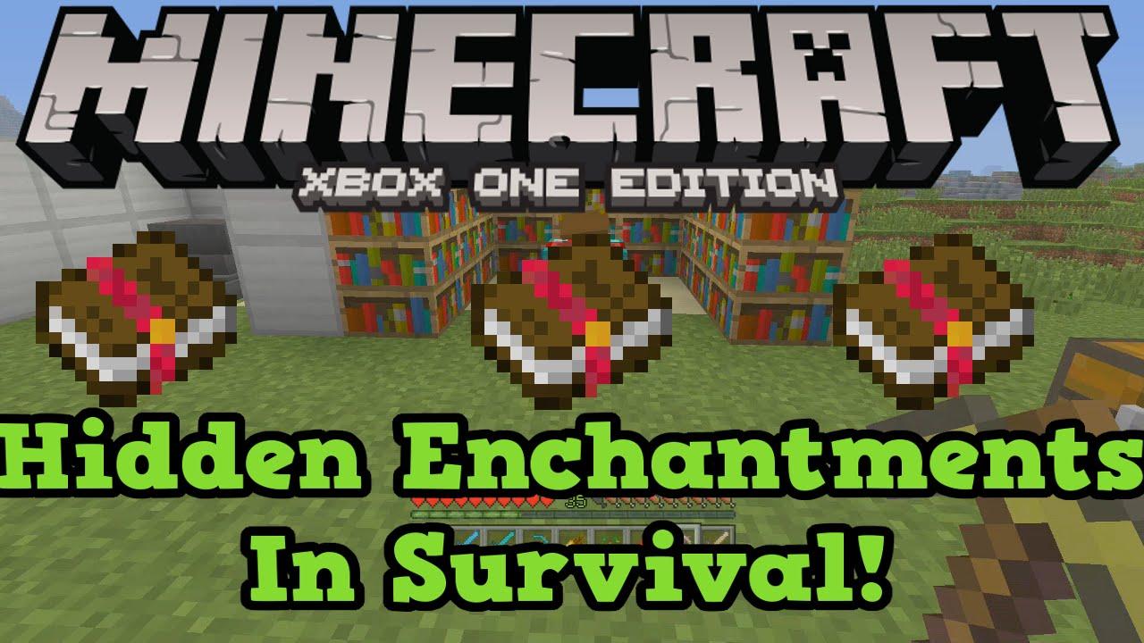 Minecraft Xbox One Ps4 Secret Enchantments Tutorial Efficiency 5 Sharpness 5 Youtube