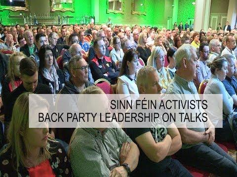 Sinn Féin activists back party leadership on talks