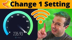 How to make your Internet speed faster with 1 simple setting! New Method 2020