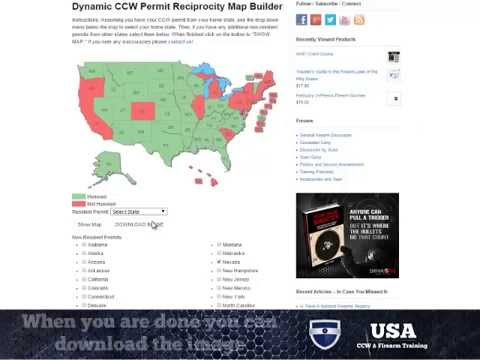 CCW Permit Map - Build Your Own Reciprocity Map on chl reciprocity puerto rico, concealed carry reciprocal states map, handgun tax map, texas concealed carry map,