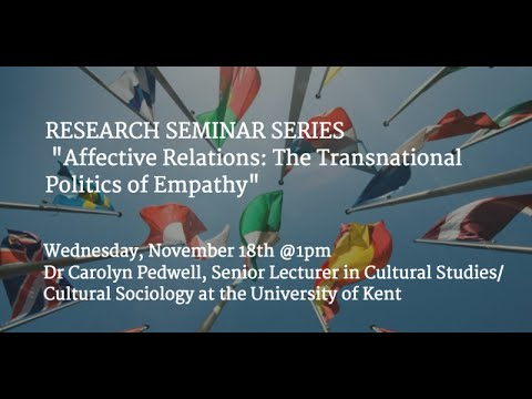 Affective Relations: The Transnational Politics of Empathy