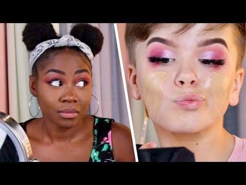 Teen YouTuber Vs. Adult Makeup Challenge