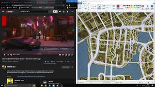 Cyberpunk 2077 Tracking Gameplay Side by Side With The Cyberpunk's Map!