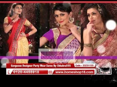 8d44ec5e351 Homeshop18.com - Gorgeous Designer Party Wear Saree By Chhabra555 - Pick  Any 1