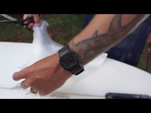 How to repair a surfboard ding