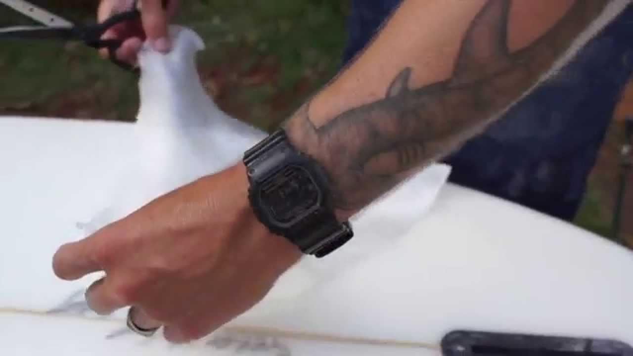Surfboard Ding Repair Tutorial