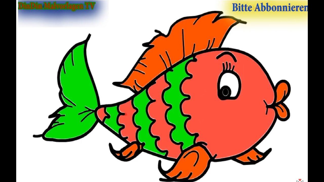 Wie Zeichnet Man Bunter Fisch Zeichnen Und Ausmalen Für Kinder Malvorlagen