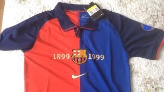 Review of fc barcelona centenary classic retro vintage football shirt jersey kit from minejerseys.cn product link: https://www.minejerseys.cn/product-detail-...