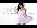 DIY GLAM FEATHER TRIM NIGHTIE | Adonia Bree