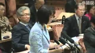 4/5参議院予算委員会 三原順子(自民)の反対討論.