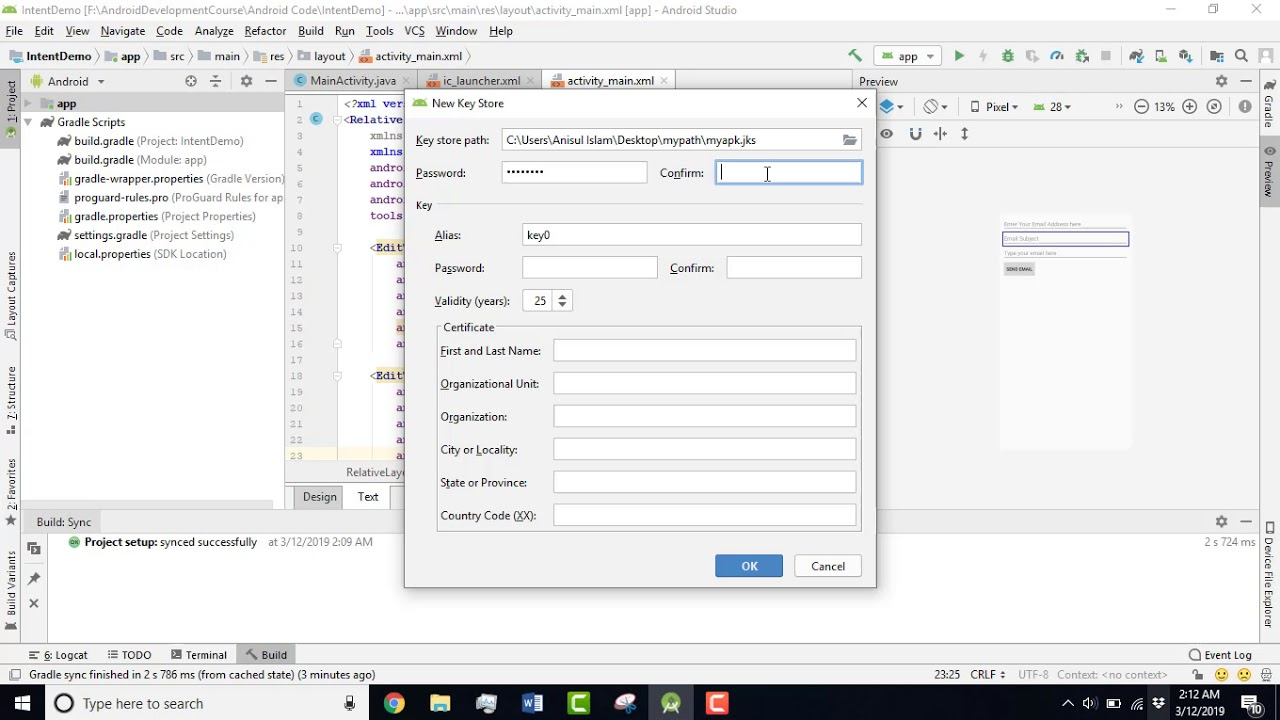 How to generate signed apk   Android Bangla Tutorial 2019