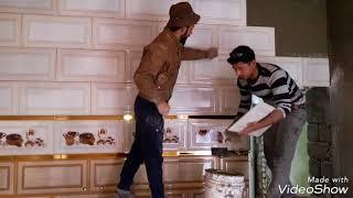 تطبيك مطبخ جدار سيراميك  بالمادة اللا صقة   درجه اولى اخوكم   قاسم السعدي07712359912