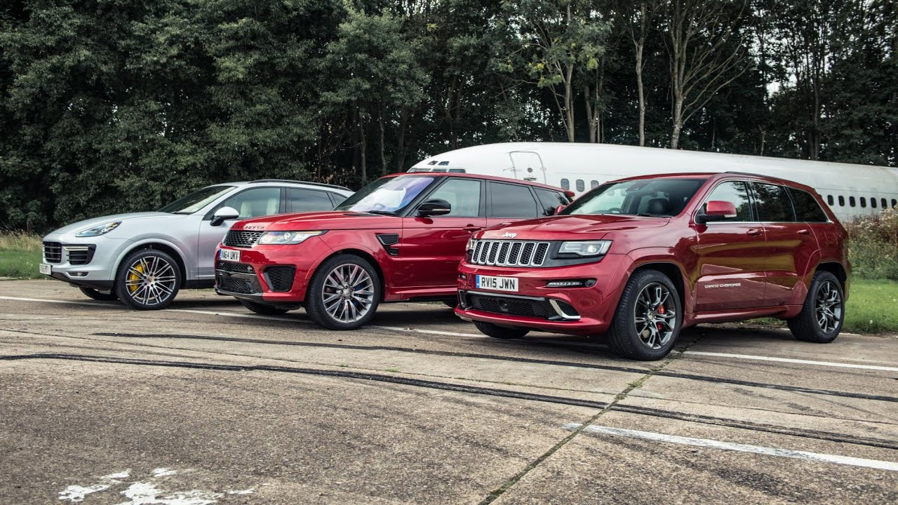 Range Rover Svr Vs Jeep Grand Cherokee Srt Vs Porsche Cayenne Turbo Youtube