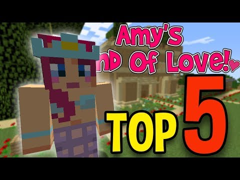 MY TOP 5 LAND of LOVE VIDEOS! | Minecraft Top 5