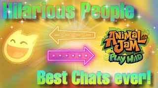 HILARIOUS PEOPLE IN AЈPW // Insane and funny chats // Animal Jam Play Wild
