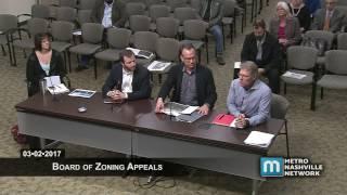 03/02/17 Board of Zoning Appeals